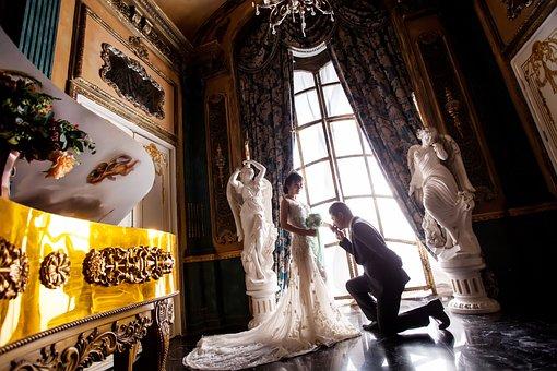 Love, Wedding, Home, On, White Dress