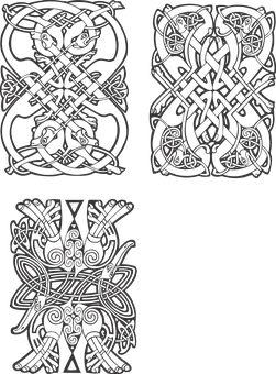 Funds Gothic Vector Celtic Patterns