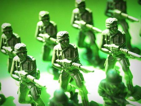 おもちゃ, 兵士, プラスチック, アクション, 戦争, 緑, ガード, 小