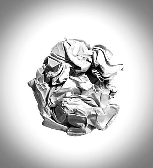Crumpled Paper Abstract Antique Backd