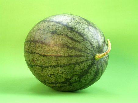Watermelon, Slice, Isolated, Seeded