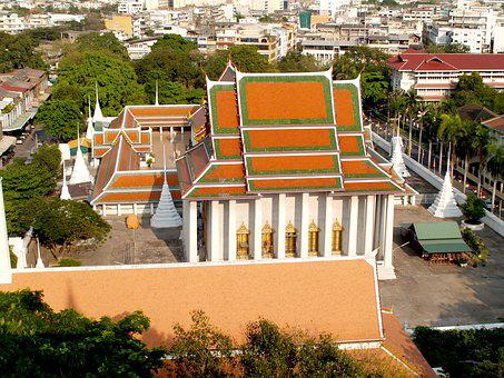 Bangkok, Wat, Saket, Golden, Mount
