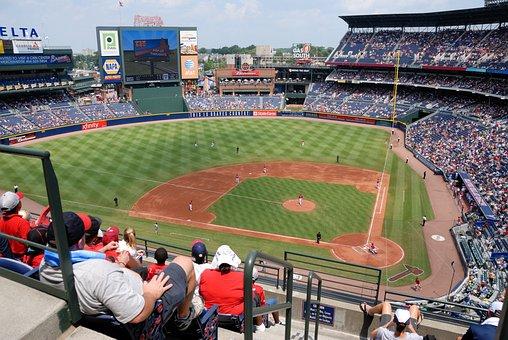 野球, スタジアム, ファン, 人, アウトドア, フィールド, スポーツ