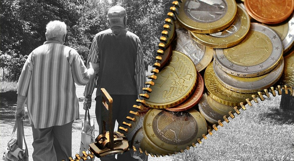 Old People, Pensioners, Pension, Money, Currency, Euro