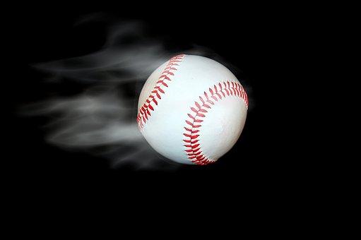 喫煙, 野球, 分離, 背景, ブラック, 煙, ホワイト, ボール, 点灯