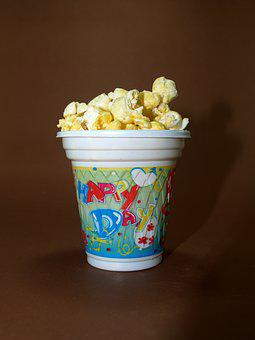 Popcorn Corn Pop Box Bucket Cinema Bag Bac