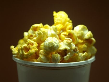 Popcorn, Corn, Pop, Box, Bucket, Cinema