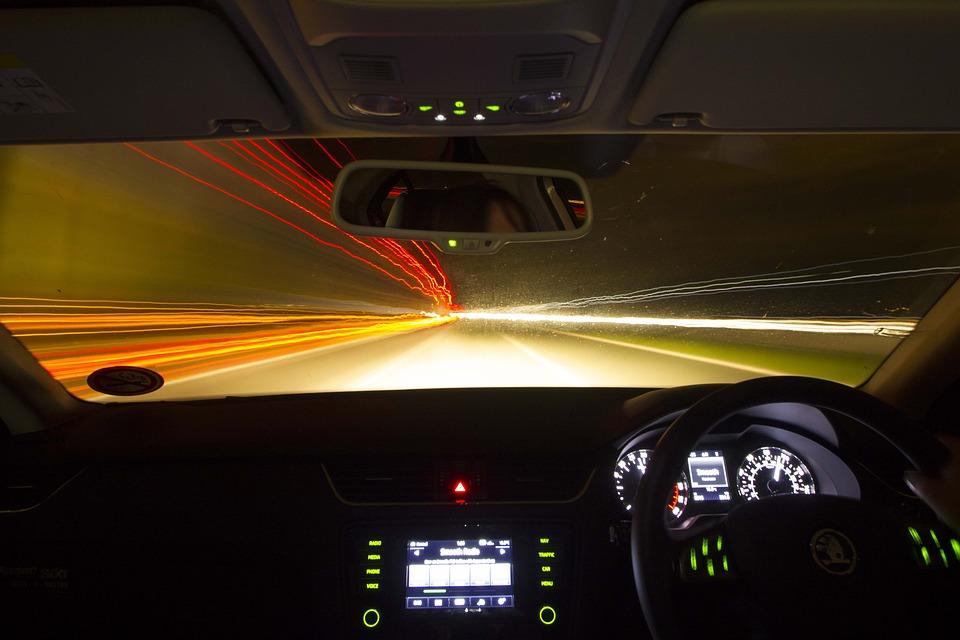 Antrieb, Nacht, Auto, Fahrzeug, Straße, Geschwindigkeit