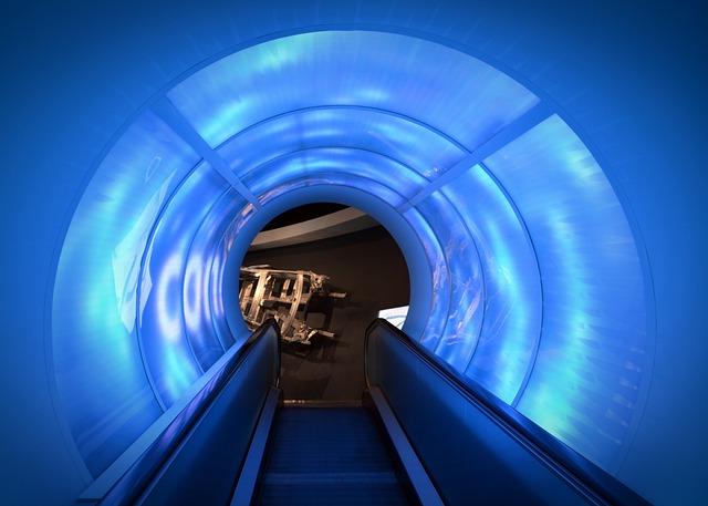 Free Photo Escalator Light Light Tunnel Free Image On