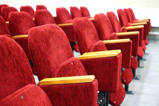 Red, Seat, Hall, Assembly, Cinema, Place