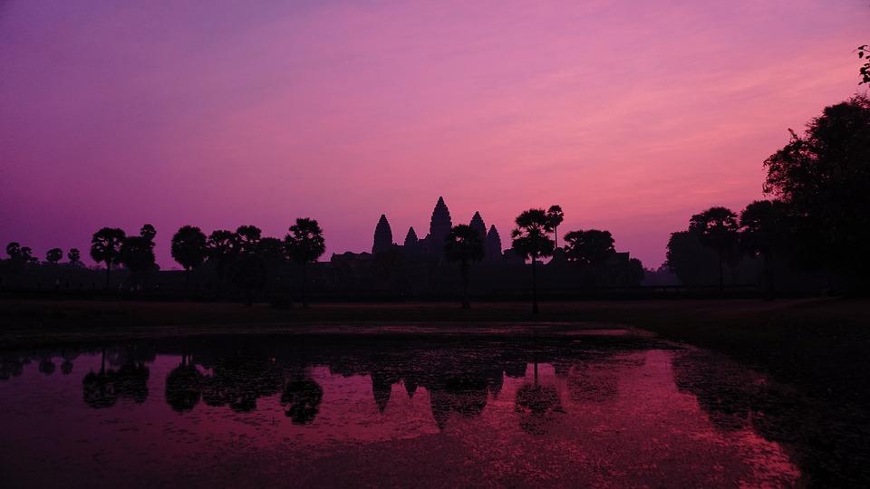 Cambodia, Angkor Wat, Sunrise, Asaka