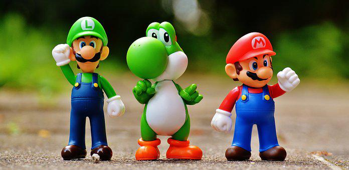 Mario Luigi Yoschi Figures Funny Colorful
