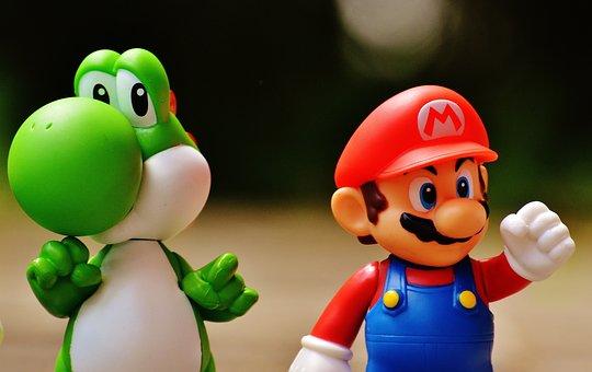 Mario, Yoschi, 数字, おかしい, カラフル, 面白い, かわいい
