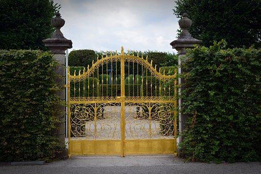目標, ゲート, 金, ポータル, ヘレンハウゼン庭園, ハノーバー, 入力