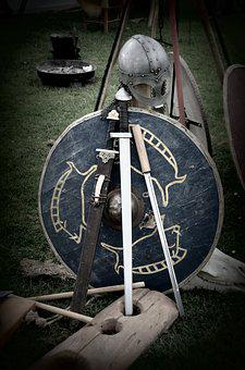 Sword Shield Knight Coat Of Arms Helm Midd