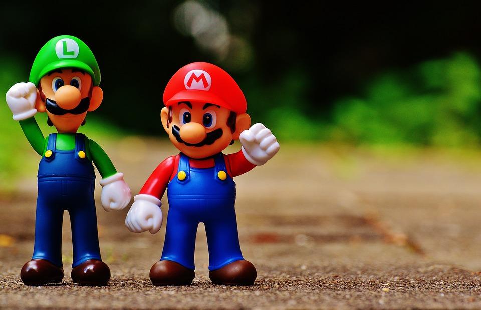 Mario, ルイージ, 数字, おかしい, カラフル, 面白い, かわいい, 子供, おもちゃ