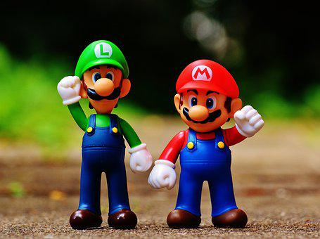 Mario, Luigi, Figures, Funny, Colorful