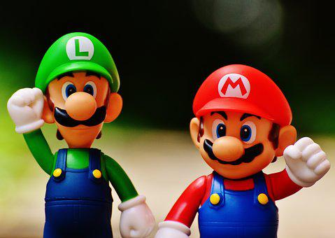 Mario, Luigi, Figures, Funny, Colorful