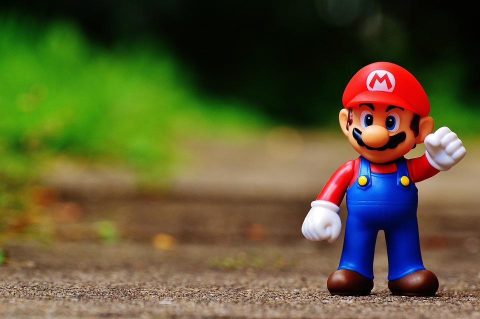 Mario, フィギュア, 再生, 任天堂, スーパー, レトロ, クラシック, コンピューター ゲーム