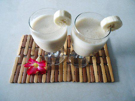 Banana Smoothie Healthy Yogurt Diet Smooth