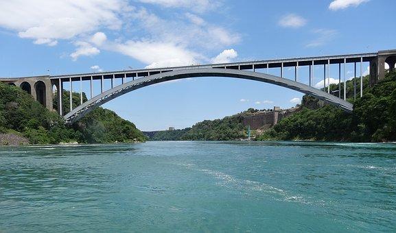 Border, Canada, Us, Usa, Bridge, River