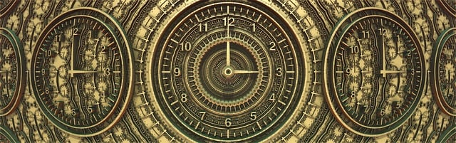 free illustration banner header time ancient clock