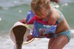 play, girl, beach