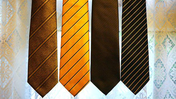 Cravate, Jaune, Vêtements, Travail