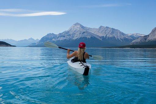 Girl, Kayak, Canoe, Kayaking, Paddle