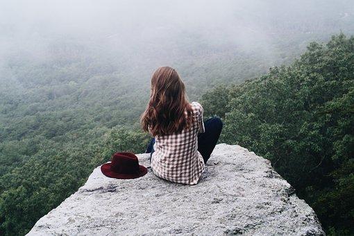 Girl, Woman, Female, Person, Mountain