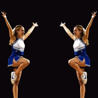Cheerleaders Symmetry Twins Mirror Image G