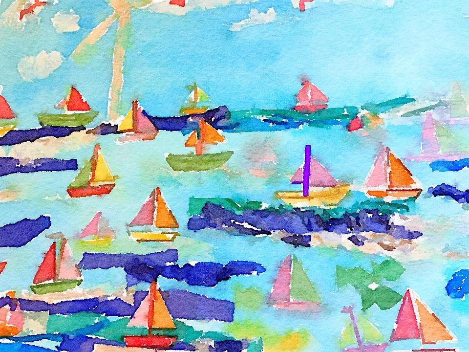 Aquarelle Paysage Marin Mer Image Gratuite Sur Pixabay