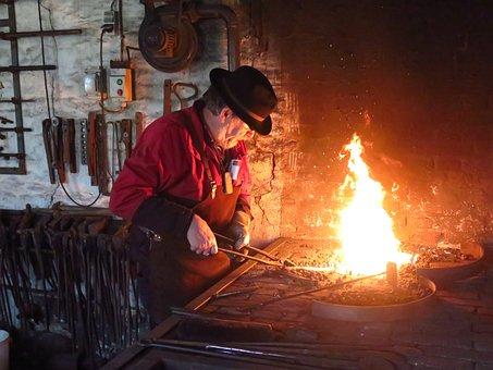 Forgeron, Musée, Forge, Incendie, Chaud