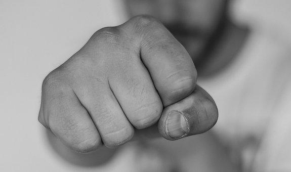 Rage Lucha Fausto Disputa Mano Cuadro Huma