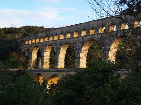 Pont Du Gard, France, Architecture, Pont