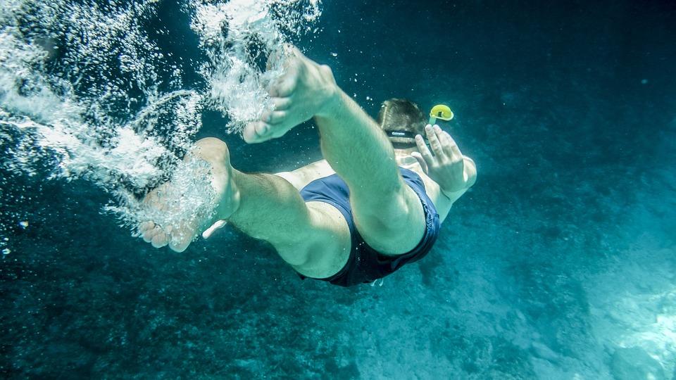跳水, 扎金索斯, 希腊, 假期, 夏季假日, 爱好, 太阳, 海, 体育, 游泳, 浮潜