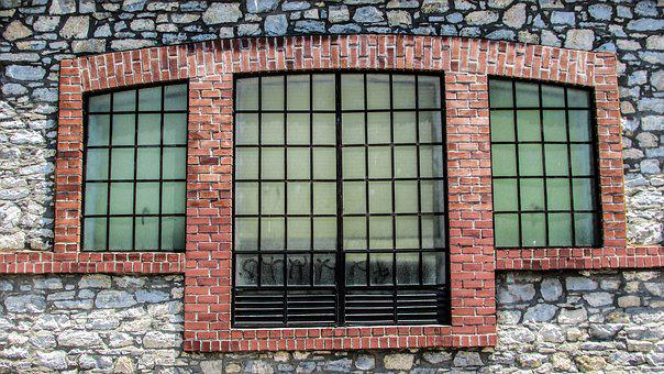 Window, Brick, Old, Factory, Renovation