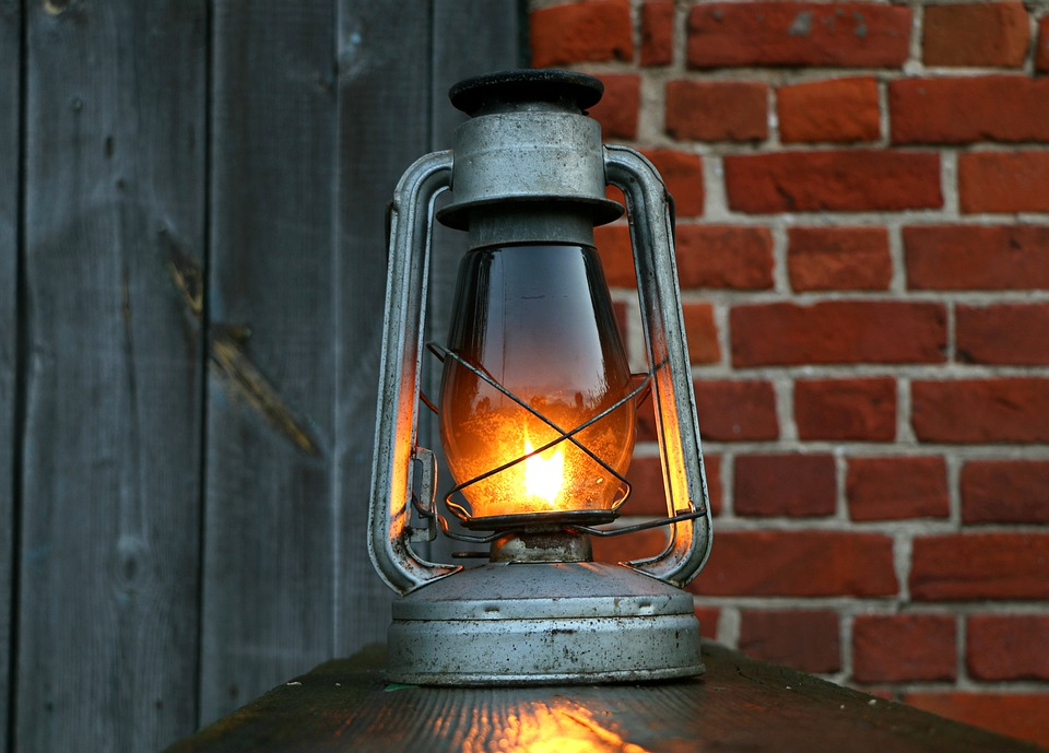 Lamp, Kerosene, Lantern, Antiques, Board, Vintage, Oil