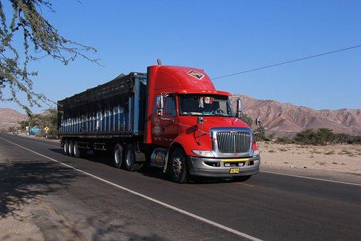 Camión, Transporte, Bienes, Carretera