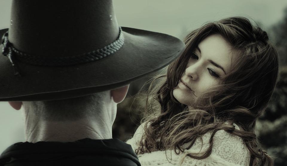 Vrouw, Man, Cowboy, Liefde, Bekijk, Romance, Dromen