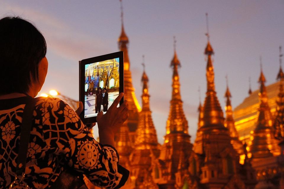 Shwedagon Pagoda, Golden, Ipad, Photograph, Pagoda