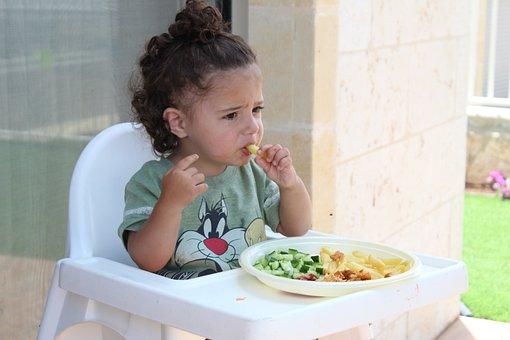 Anak, Anak Anak, Makanan, Sehat, Sedikit