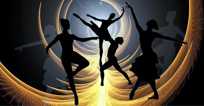 Ballet Dancers Woman Silhouettes Dance Cho