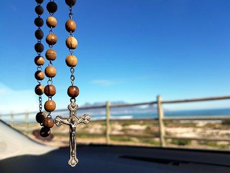 Rosary, Table Mountain, Catholic, Car