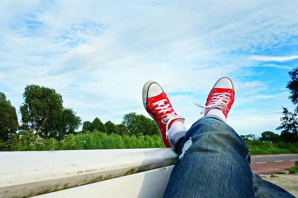 Feet, Shoes, Sneakers, Legs, Crossed Legs, Body, Limbs