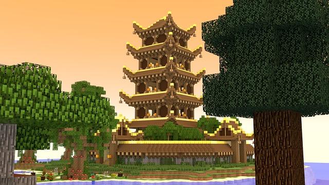 Minecraft Temple 3d Image Gratuite Sur Pixabay