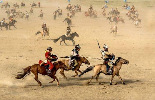 馬, モンゴル国, 戦士, 戦争, 戦い, フィールド, 栗毛の馬, 茶畑