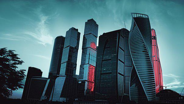 Moscow City, 2017, Russia, Megalopolis