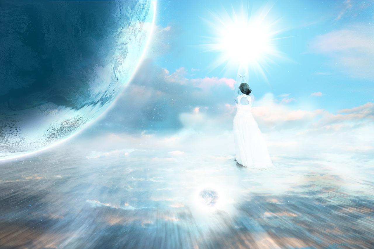 アセンション, 天体, 惑星, 天, 地球, 宇宙, 光, 神秘的です, 信念, レイキ, 双対性, 一体感