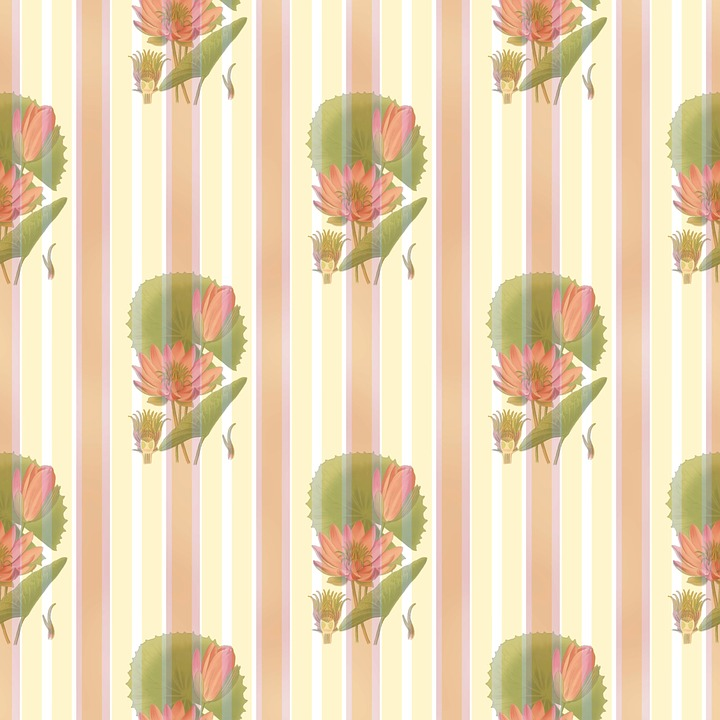 Lotus Flower, Waterlily, Wallpaper, Wall, Covering